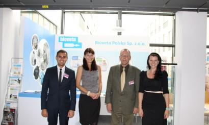 Reprezentacja firmy Bioveta, jednego z wystawców tegorocznego Forum (od lewej: Piotr Zientara, Halina Witkowska, Maciej Dyba i Nela Malíková).
