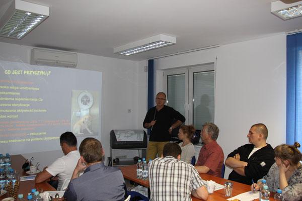 Roman Aleksiewicz omówił najczęściej występujące patologie układu kostnego psa.