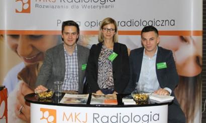 Jeden ze sponsorów Konferencji – MKJ Radiologia (Jakub Podlaszuk, Anna Bogusławska-Kaufke, Ernest Skórka).