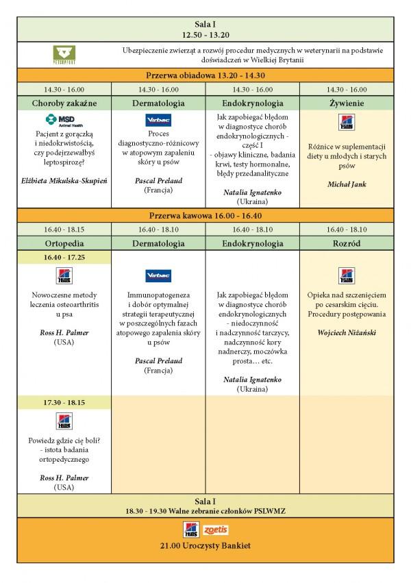 Program XXIII KONGRESU MEDYCYNY WETERYNARYJNEJ MAŁYCH ZWIERZĄT PSLWMZ, 13-15.11.2015 r._Strona_3