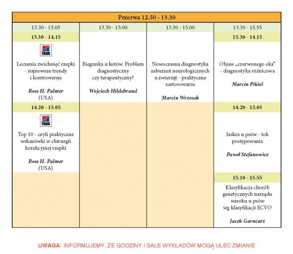 Program XXIII KONGRESU MEDYCYNY WETERYNARYJNEJ MAŁYCH ZWIERZĄT PSLWMZ, 13-15.11.2015 r._Strona_5