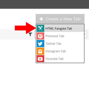 Fot. 7. Z dostępnych opcji zakładek wybieramy HTML Fangate Tab.