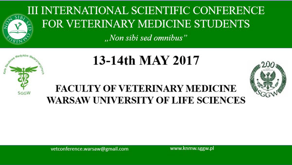 III International Scientific Conference for Veterinary Medicine Students