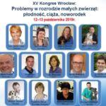 XV Międzynarodowy Kongres Problemy w rozrodzie małych zwierząt  12-13 października 2019
